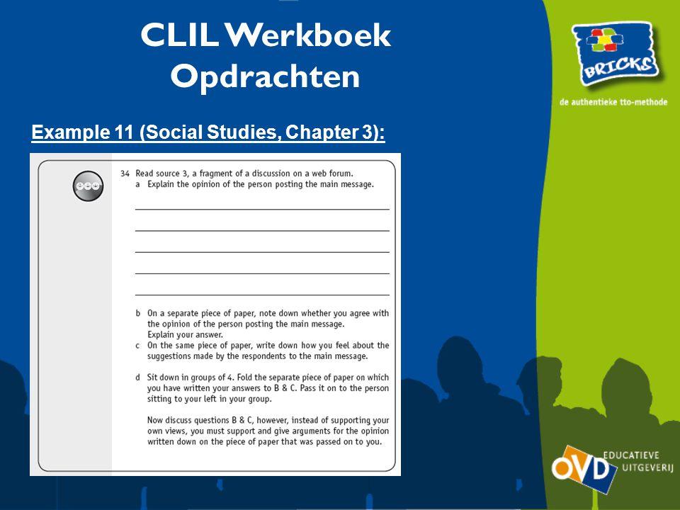 CLIL Werkboek Opdrachten Example 11 (Social Studies, Chapter 3):