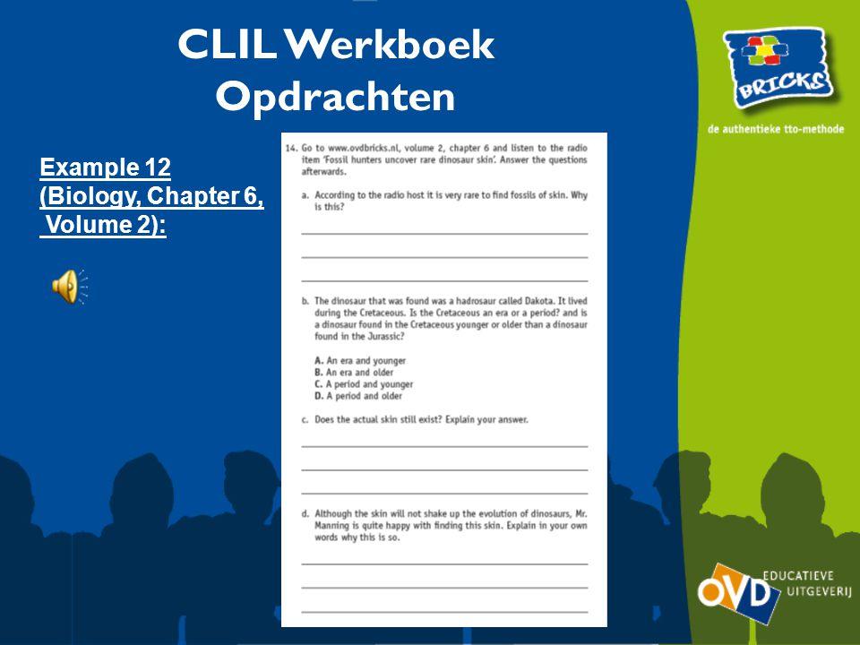 CLIL Werkboek Opdrachten Example 12 (Biology, Chapter 6, Volume 2):