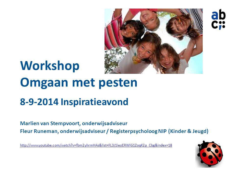 8-9-2014 Inspiratieavond Marlien van Stempvoort, onderwijsadviseur Fleur Runeman, onderwijsadviseur / Registerpsycholoog NIP (Kinder & Jeugd) http://w