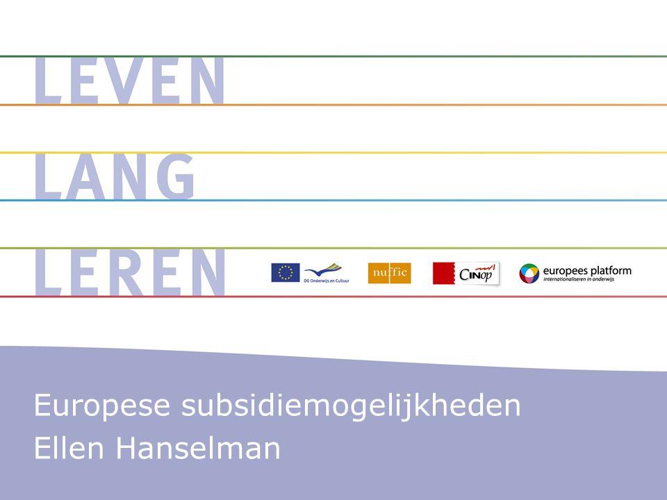 Importeren in ruime zin Opbrengsten komen tenminste ten goede aan Nederland Nederlandse prioriteiten Europese meerwaarde en impact & Impact Duurzame resultaten De kunst van het transfereren Innovatief Nauw verbonden met beleid: prioriteiten Thema's & netwerken TOI