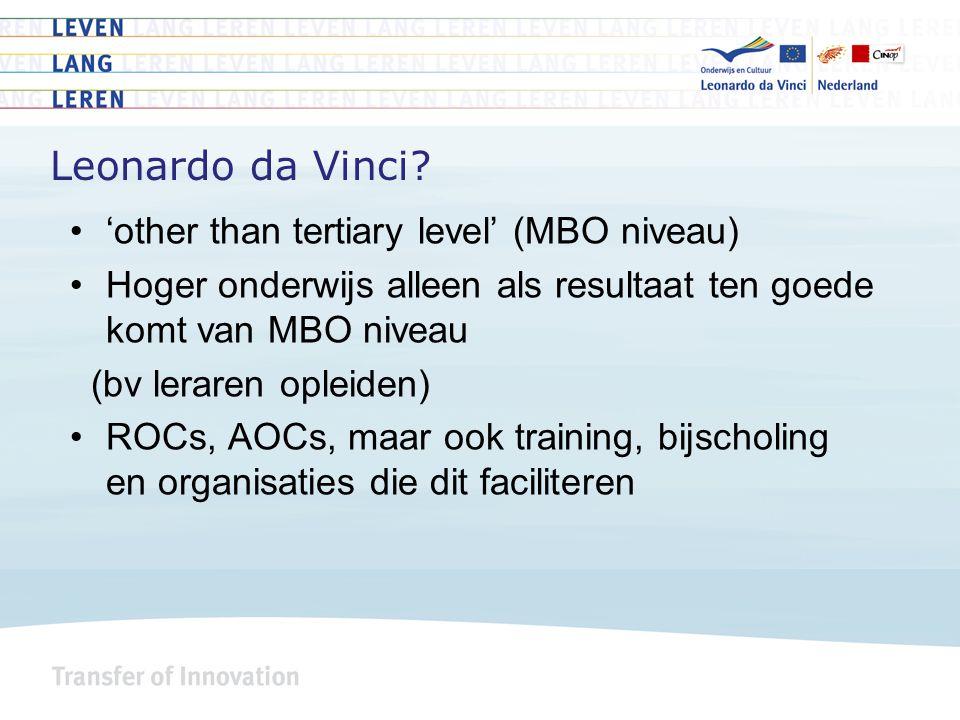 Europese beleidscontext - VET Vocational Education & Training (VET) 2020 – Brugge Communiqué Thema's o.a.