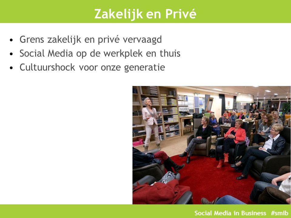 Zakelijk en Privé Grens zakelijk en privé vervaagd Social Media op de werkplek en thuis Cultuurshock voor onze generatie