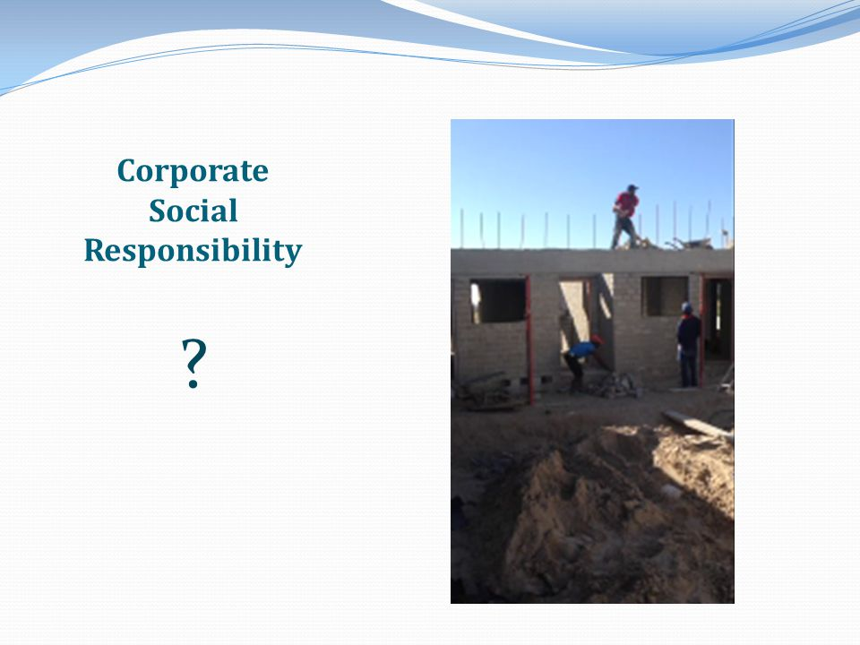 Corporate Social Responsibilty To realize its full social and commercial potential, South Africa desperately needs housing and job creation.