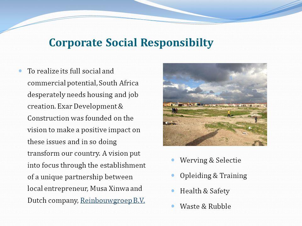 Intern: Bewustzijn Verantwoordelijkheid Extern Marketing Community Business Benefit of CSR