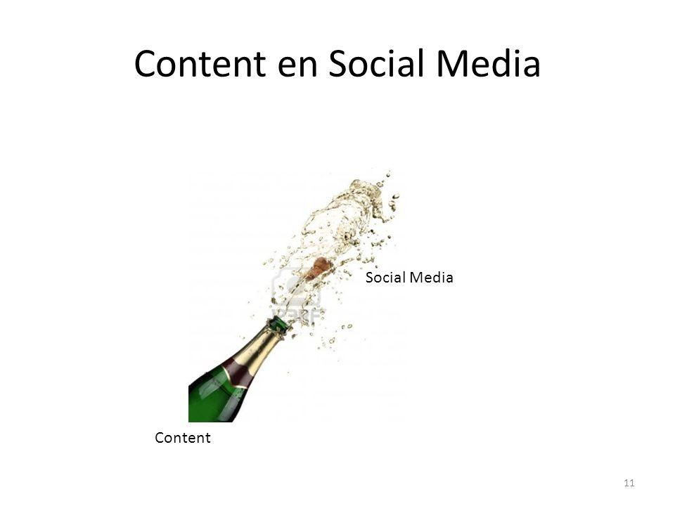 Content en Social Media 11 Content Social Media