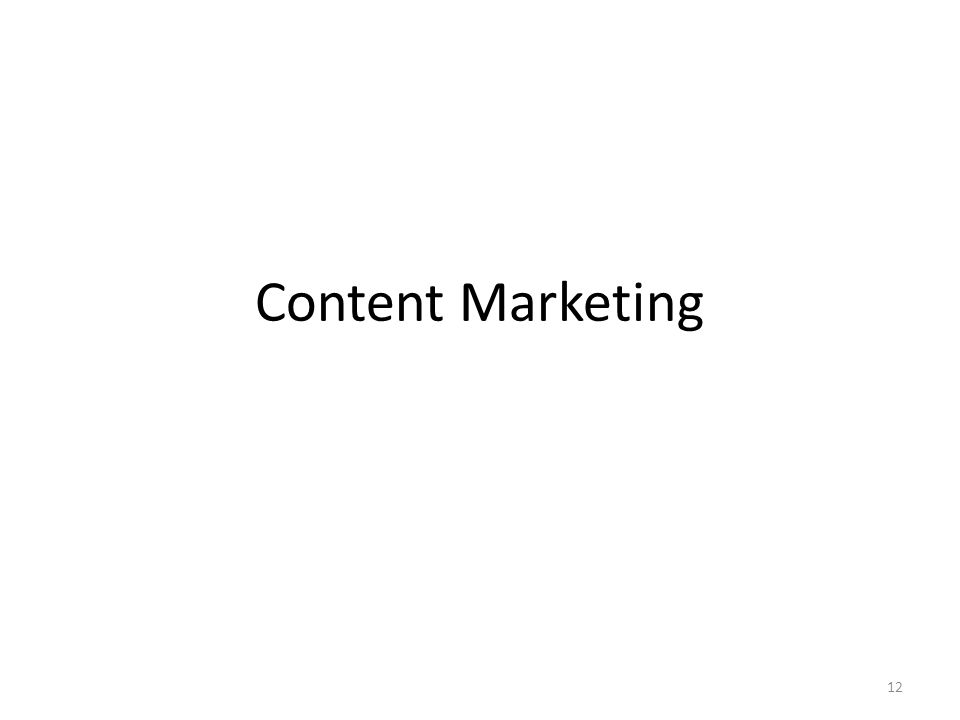 Content Marketing 12