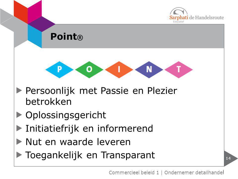 Persoonlijk met Passie en Plezier betrokken Oplossingsgericht Initiatiefrijk en informerend Nut en waarde leveren Toegankelijk en Transparant 14 Point