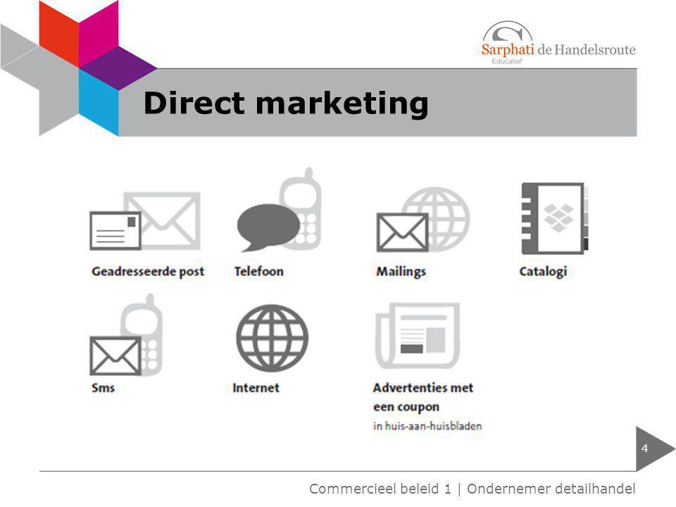 Direct marketing 4 Commercieel beleid 1 | Ondernemer detailhandel
