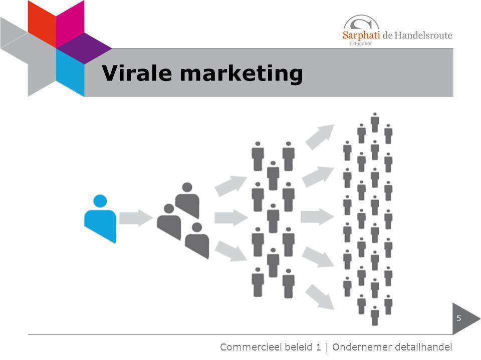 Virale marketing 5 Commercieel beleid 1 | Ondernemer detailhandel
