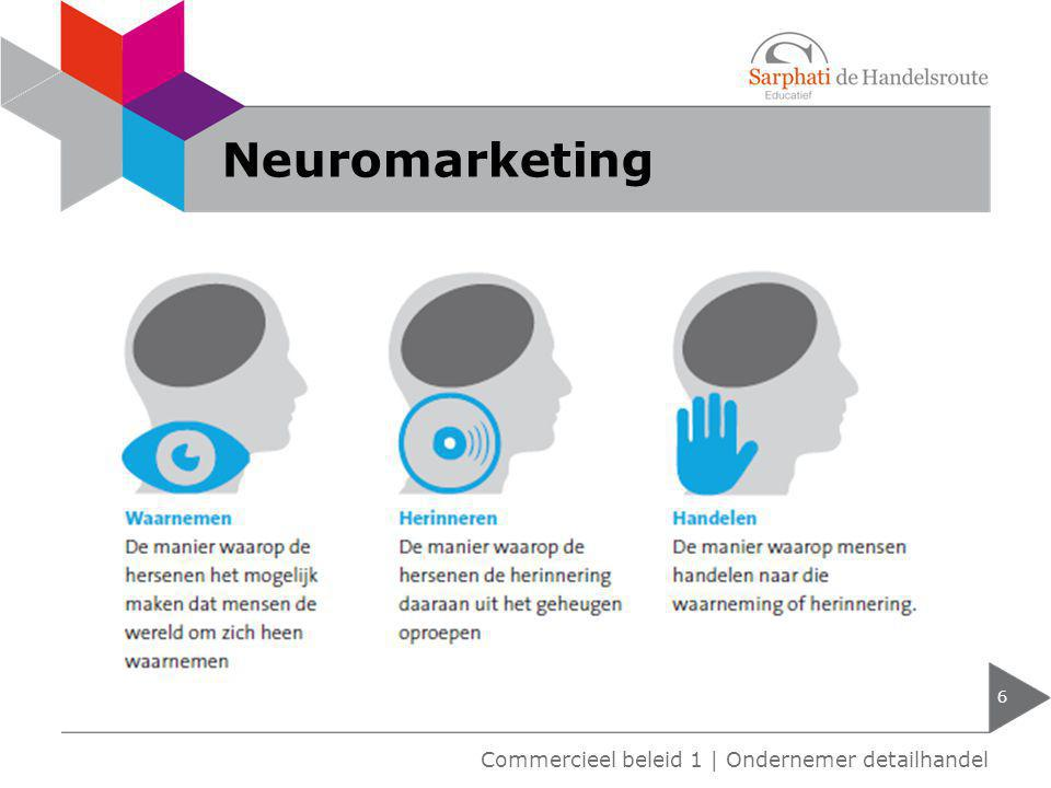 Neuromarketing 6 Commercieel beleid 1 | Ondernemer detailhandel