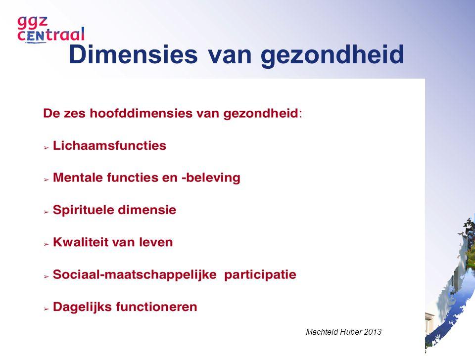 Dimensies van gezondheid Machteld Huber 2013