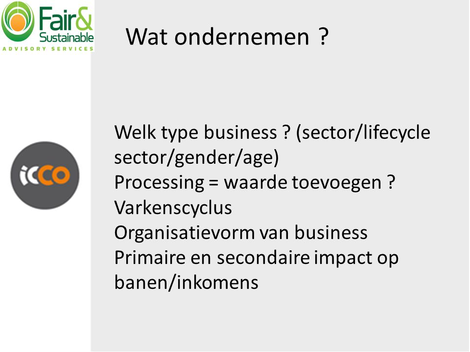 The BP of ondernemer.