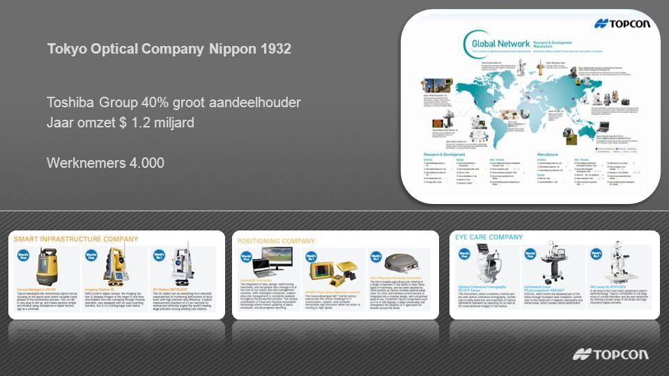 Tokyo Optical Company Nippon 1932 Toshiba Group 40% groot aandeelhouder Jaar omzet $ 1.2 miljard Werknemers 4.000