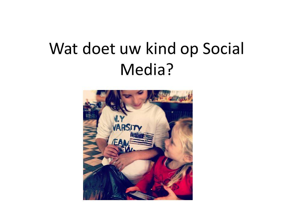 Wat doet uw kind op Social Media Foto