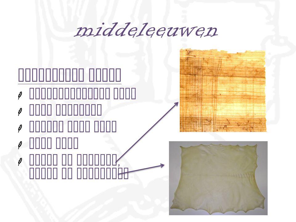 middeleeuwen Perkament dierenhuiden hard en stevig schrijven op twee zijden palimpsest