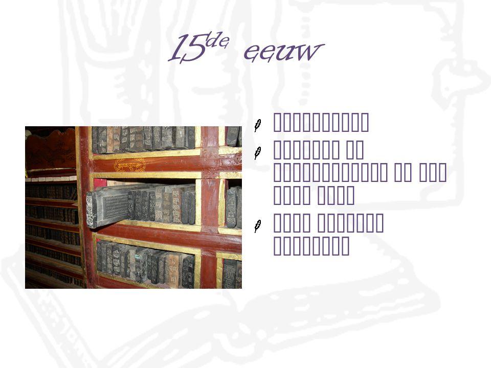 15 de eeuw blokboeken teksten in spiegelbeeld in een blok hout geen handige techniek
