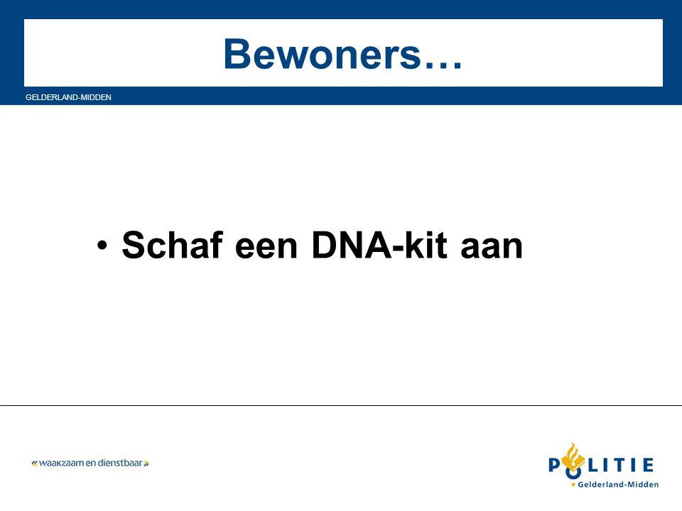 GELDERLAND-MIDDEN Bewoners… Schaf een DNA-kit aan