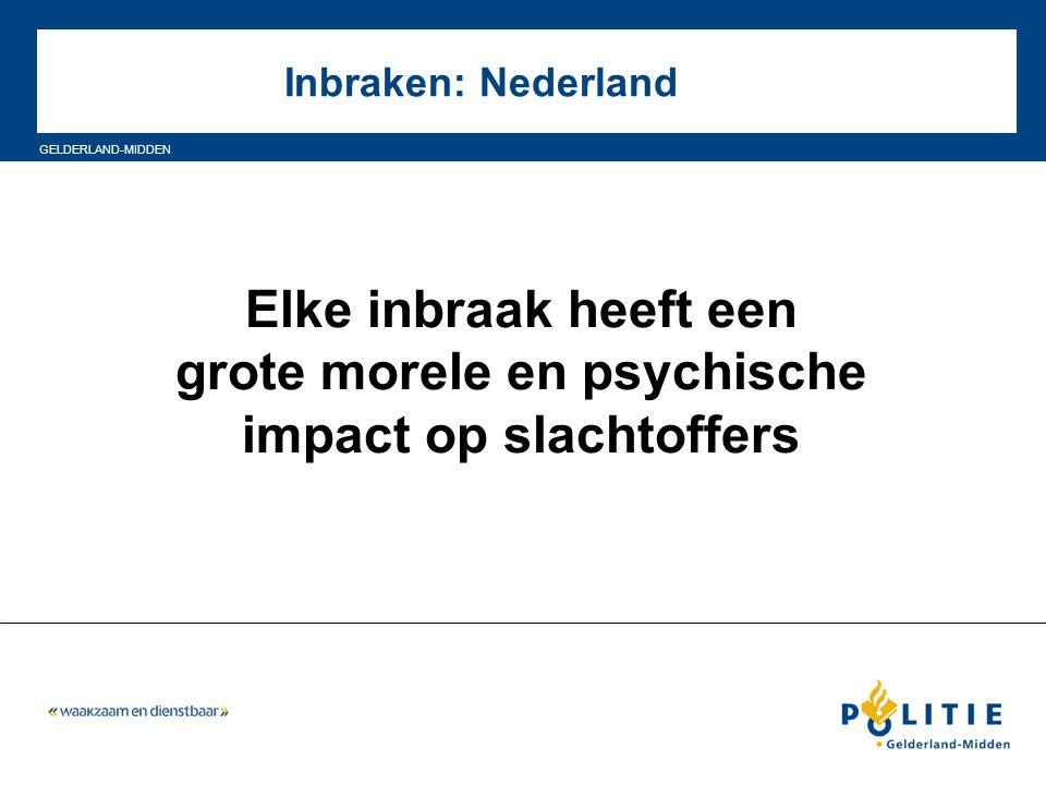 GELDERLAND-MIDDEN Inbraken: Nederland Elke inbraak heeft een grote morele en psychische impact op slachtoffers
