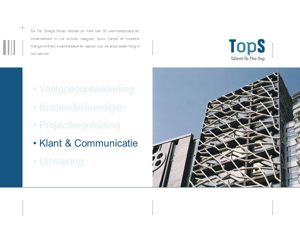 De Ter Steege Groep bestaat uit meer dan 30 werkmaatschappijen, onderverdeeld in vier divisies: vastgoed, bouw, handel en industrie.