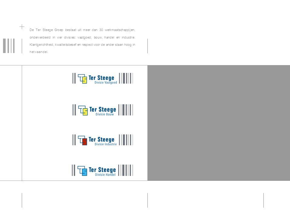 Divisie Vastgoed De Ter Steege Groep bestaat uit meer dan 30 werkmaatschappijen, onderverdeeld in vier divisies: vastgoed, bouw, handel en industrie.