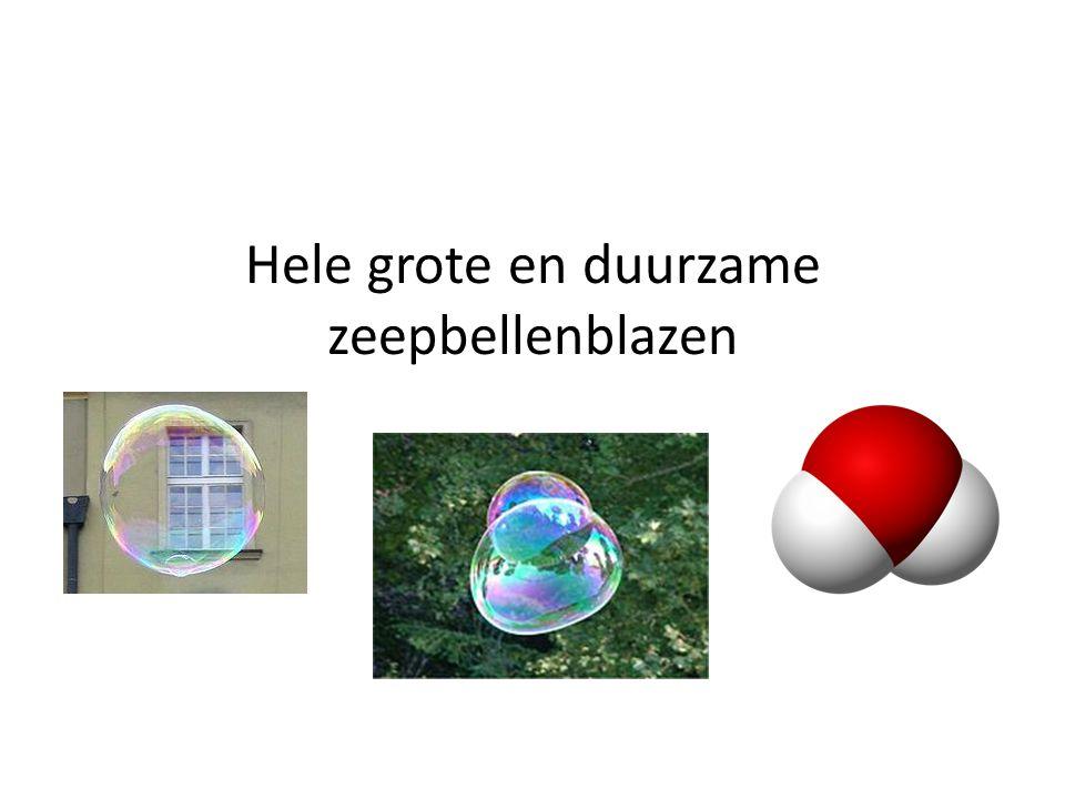 Hele grote en duurzame zeepbellenblazen