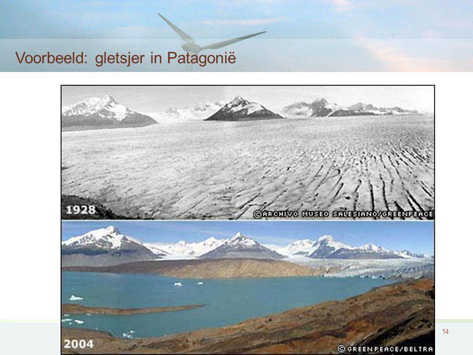 14 Voorbeeld: gletsjer in Patagonië