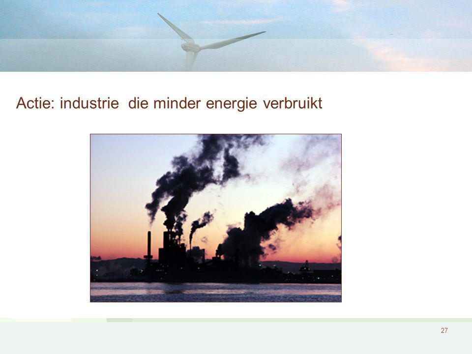 27 Actie: industrie die minder energie verbruikt