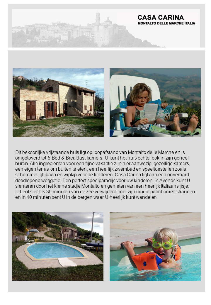 Dit bekoorlijke vrijstaande huis ligt op loopafstand van Montalto delle Marche en is omgetoverd tot 5 Bed & Breakfast kamers.