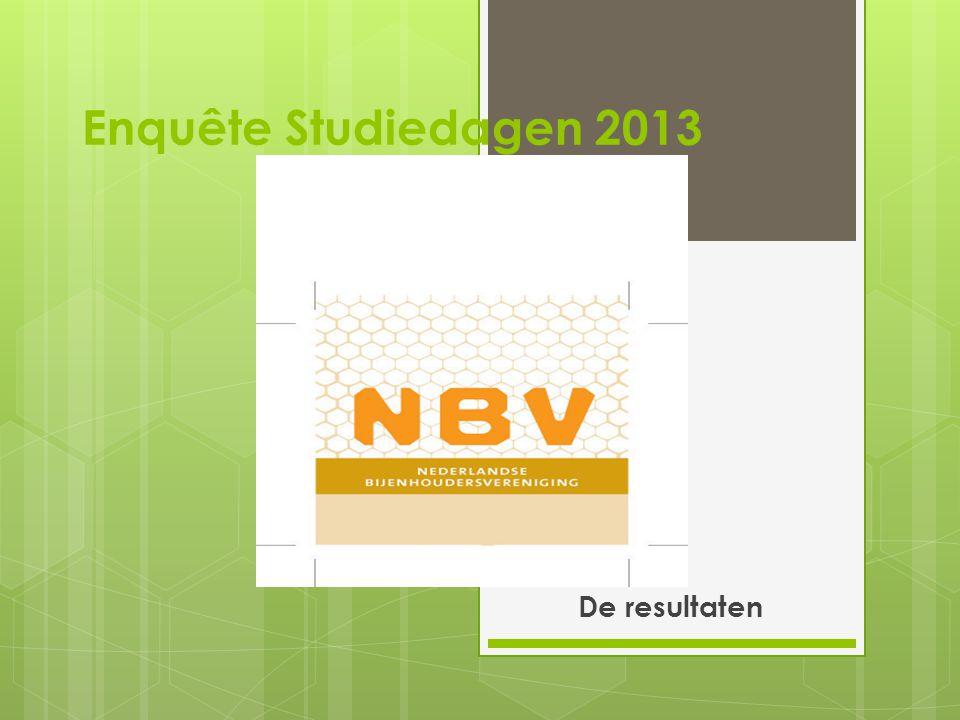 Enquête Studiedagen 2013 De resultaten