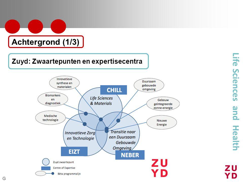 Life Sciences and Health Zuyd: Zwaartepunten en expertisecentra Achtergrond (1/3) G