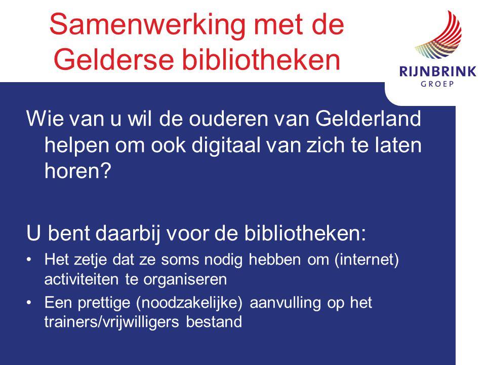 Wie van u wil de ouderen van Gelderland helpen om ook digitaal van zich te laten horen.