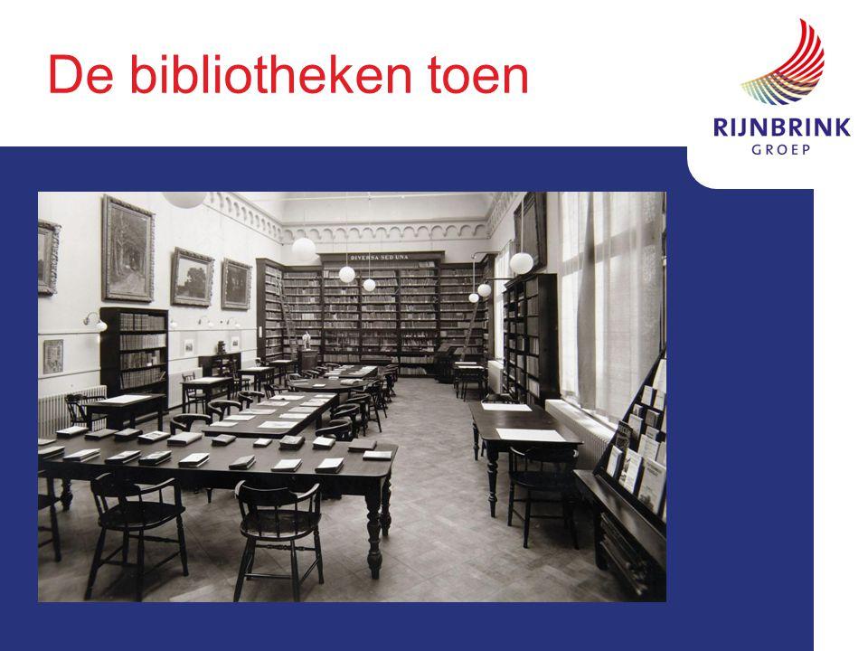 De bibliotheken toen