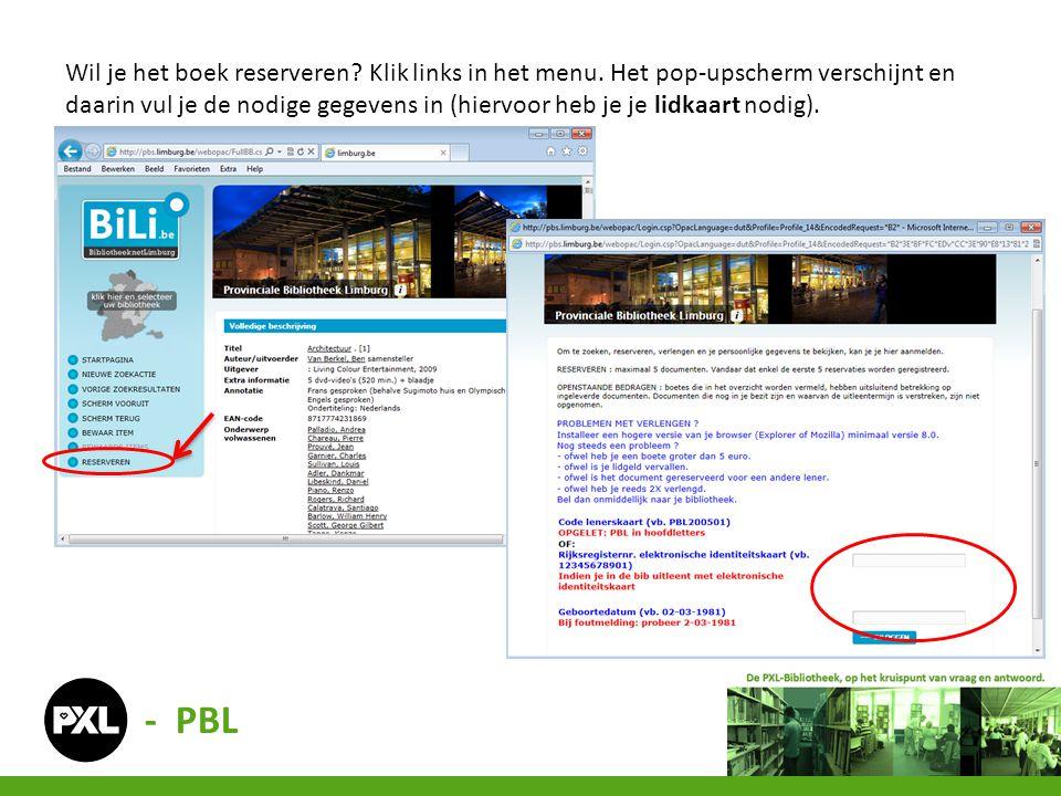 Via deze catalogus kun je ook alle andere bibliotheken raadplegen. - BiLi.be