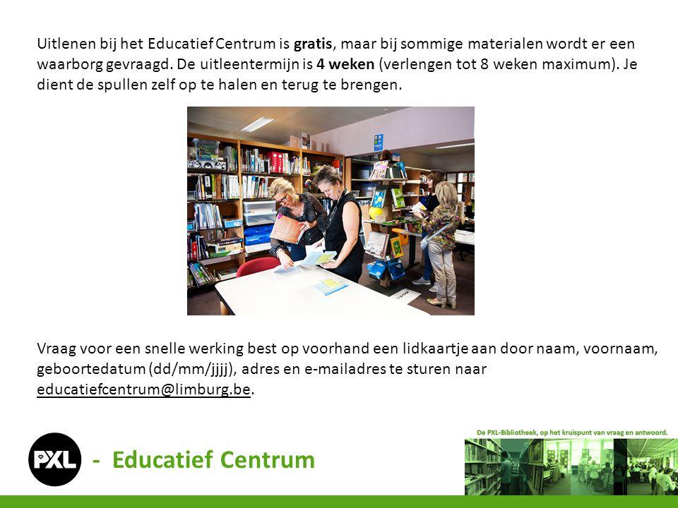 Provincie Limburg Educatief Centrum (PLEC) Universiteitslaan 1 3500 Hasselt 011 23 82 44 / educatiefcentrum@limburg.beeducatiefcentrum@limburg.be N.B.
