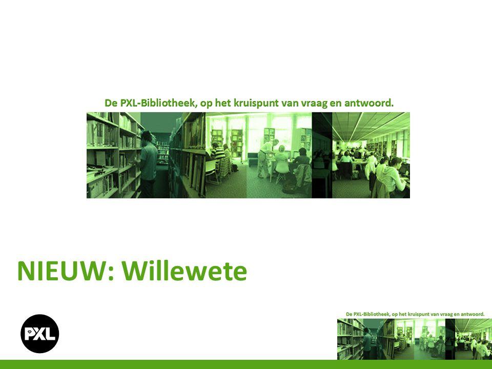 Educatief centrum Willewete Willewete is een initiatief van Clavis Uitgeverij en PXL-Education.