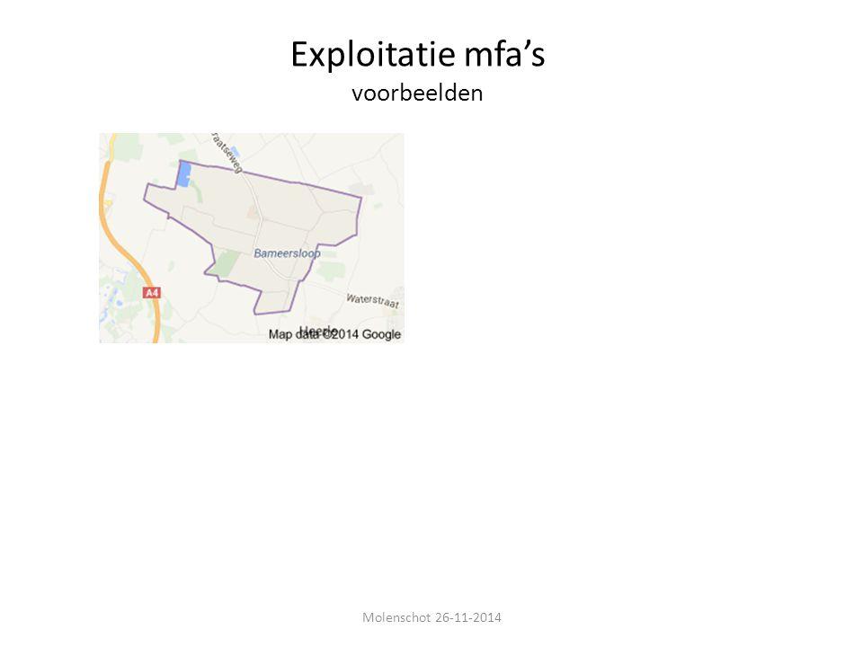 Exploitatie mfa's voorbeelden Molenschot 26-11-2014