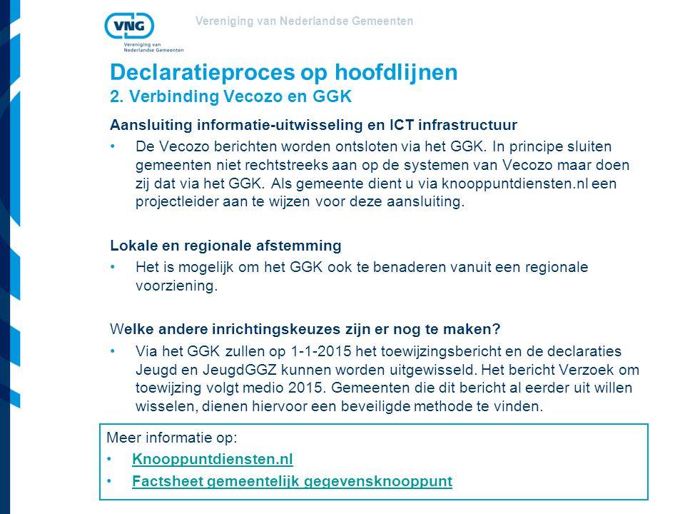 Vereniging van Nederlandse Gemeenten Declaratieproces op hoofdlijnen 2.