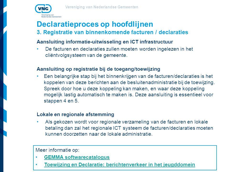 Vereniging van Nederlandse Gemeenten Declaratieproces op hoofdlijnen 3.