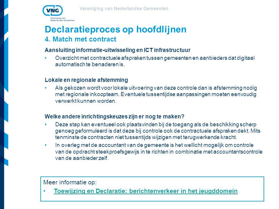 Vereniging van Nederlandse Gemeenten Declaratieproces op hoofdlijnen 4.
