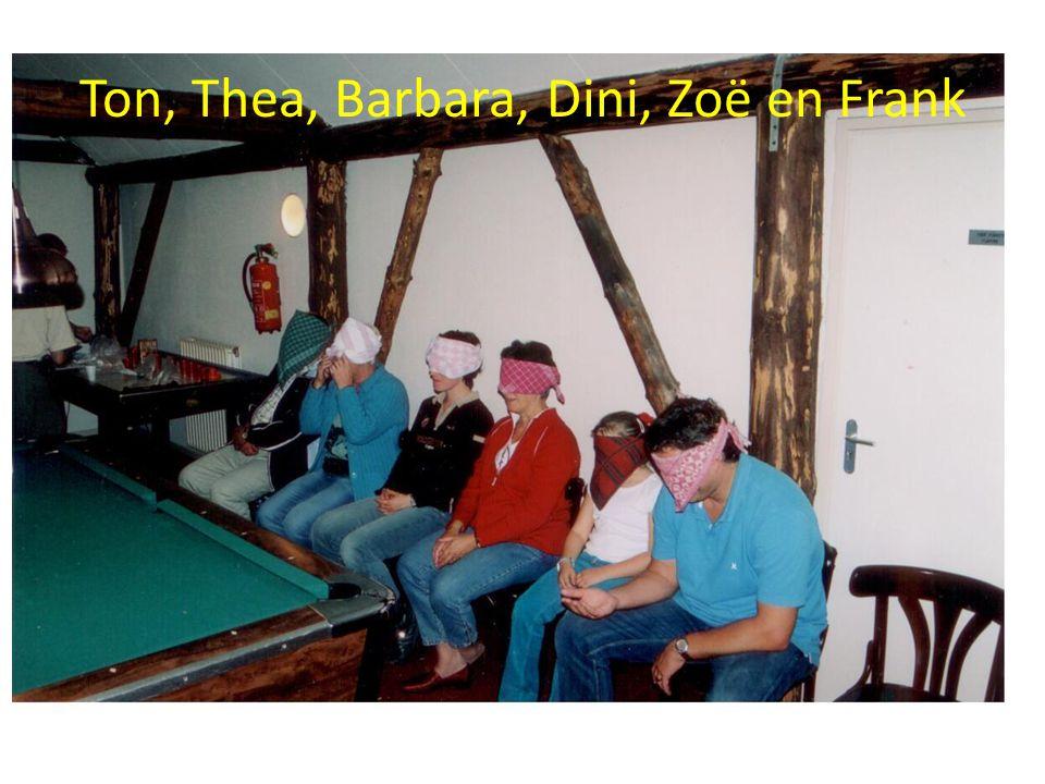 Ton, Thea, Barbara, Dini, Zoë en Frank