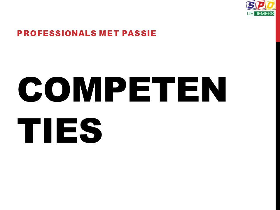 COMPETEN TIES PROFESSIONALS MET PASSIE