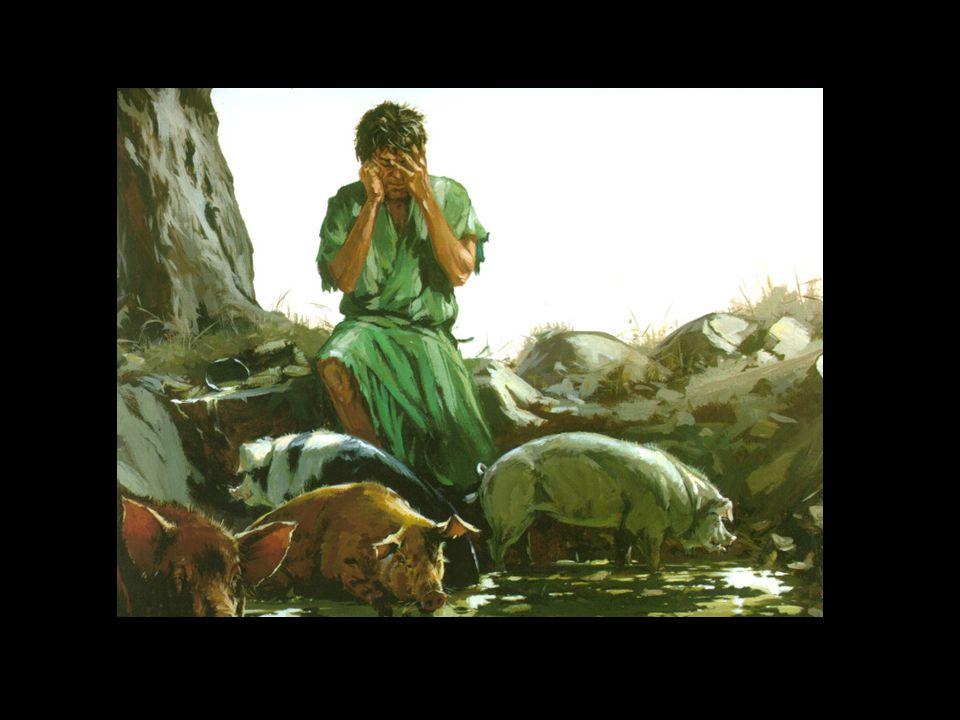 17 Toen kwam hij tot zichzelf en zeide: Hoeveel dagloners van mijn vader hebben brood in overvloed en ik kom hier om van de honger.