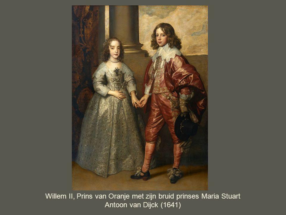 Willem II, Prins van Oranje met zijn bruid prinses Maria Stuart Antoon van Dijck (1641)