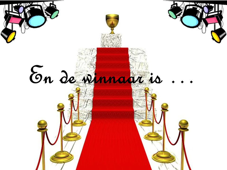 En de winnaar is …