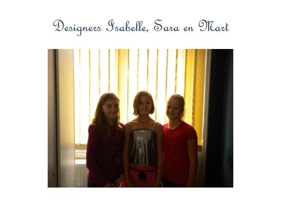 Designers Isabelle, Sara en Mart