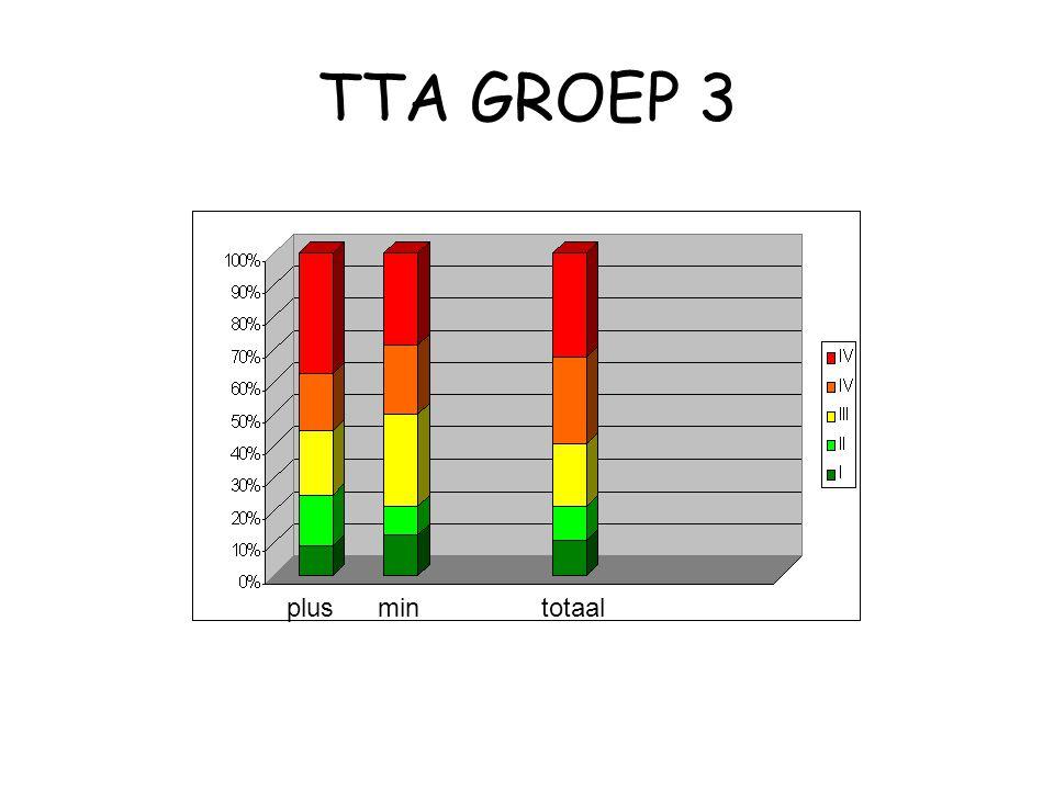 TTA GROEP 3 plusmin totaal