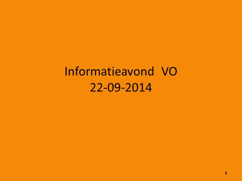 1 Informatieavond VO 22-09-2014