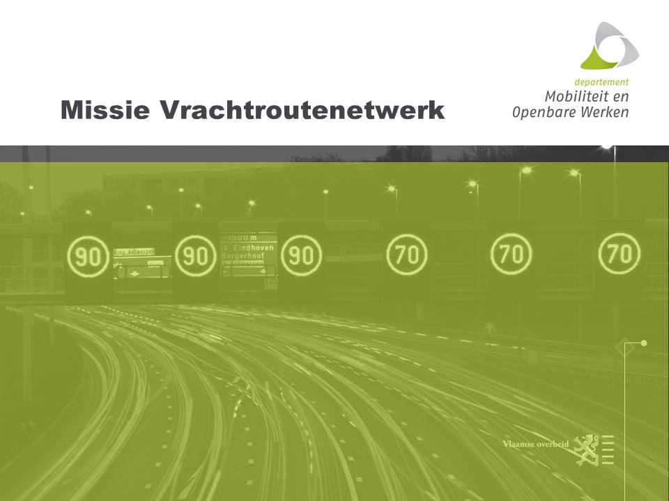 Missie vrachtroutenetwerk Het vrachtroutenetwerk bepaalt de gewenste rijroutes voor doorgaand vrachtverkeer op regionaal niveau.