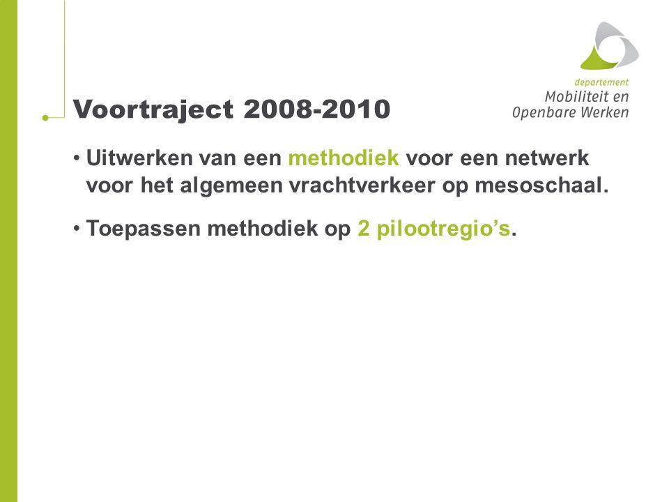 Fase 1: 2011 Ontwikkeling van een eerste aanzet hoofdraamwerk VRN op mesoniveau (zie Limburg) voor Vlaanderen.