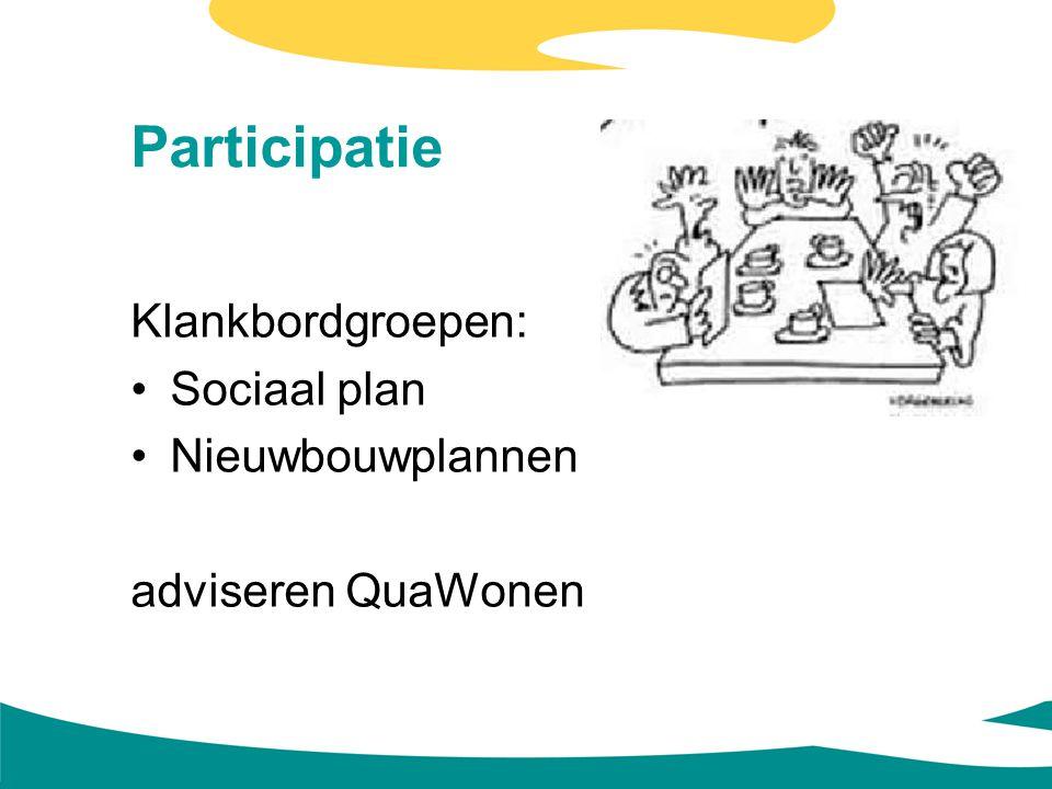Participatie Klankbordgroepen: Sociaal plan Nieuwbouwplannen adviseren QuaWonen